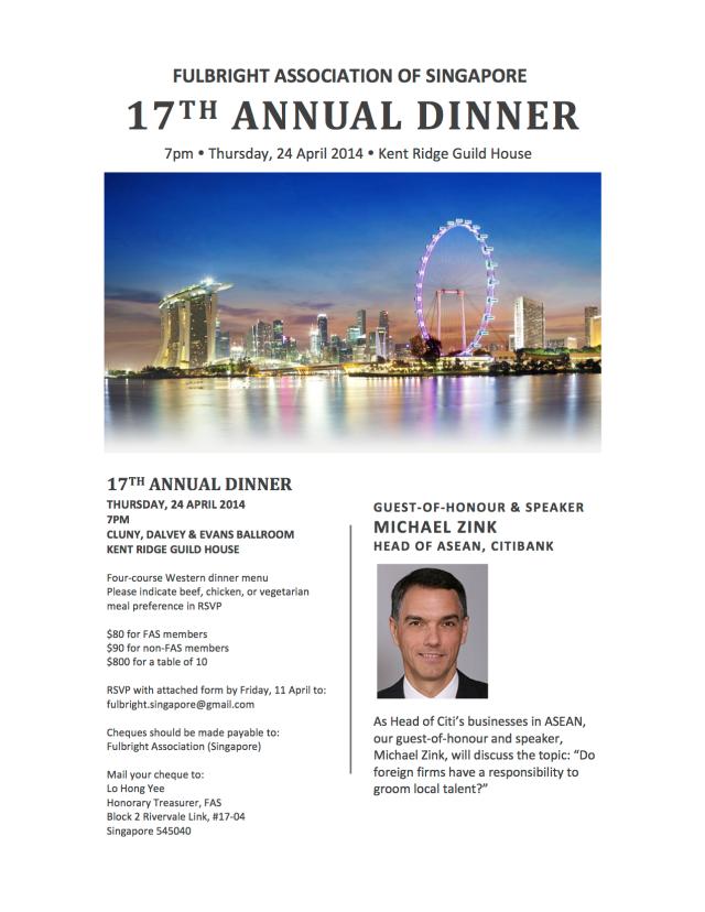 FAS 2014 Annual Dinner Flyer