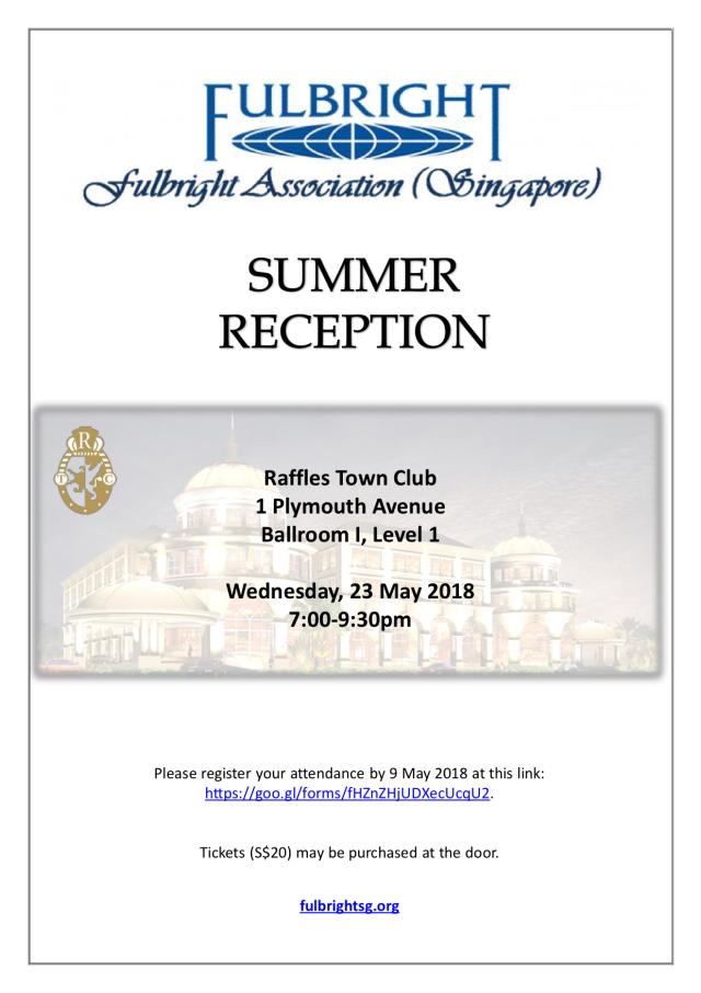 FAS Summer Reception 2018 Publicity